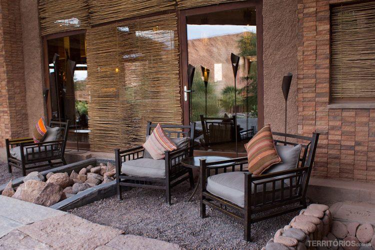 Varanda no hotel Alto Atacama