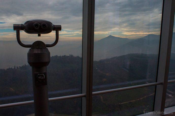 Vista para os parques de Santiago