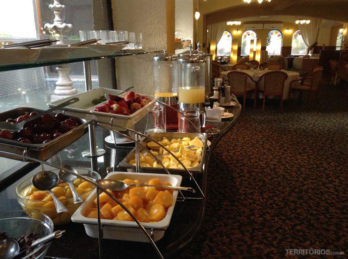 Buffet de café da manhã no restaurante do Torremayor Lyon