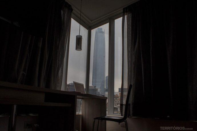 Vista para Sky Costanera nos quartos de esquina