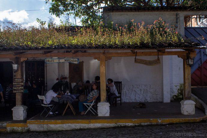 Jardins nos telhados de Concepción de Ataco