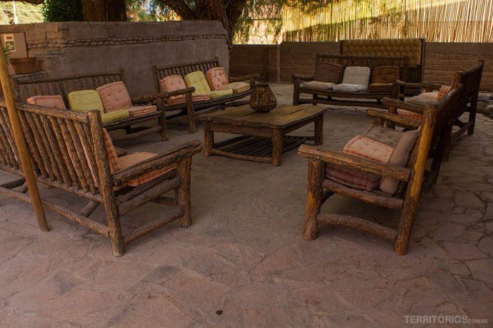 Ambientes agradáveis nas áreas externas da La Casa de Don Tomás