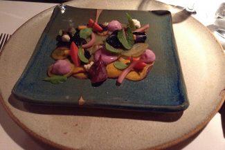Prato no restaurante Awasi Atacama