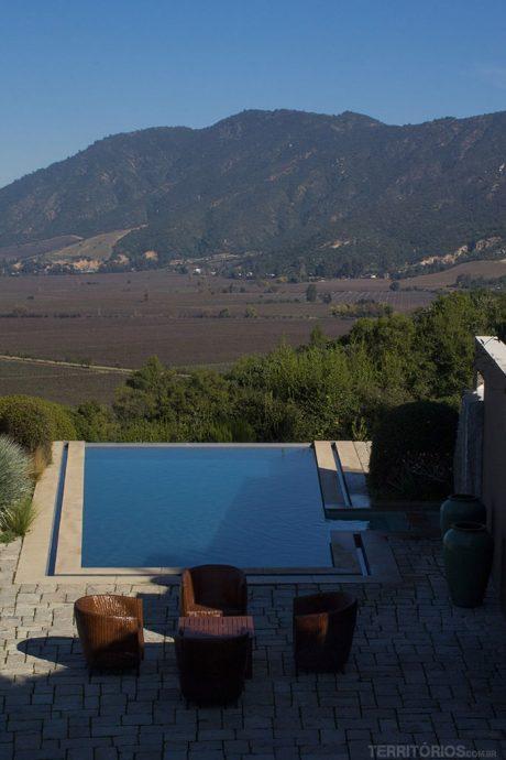 Piscina também com vista para o Vale do Colchagua