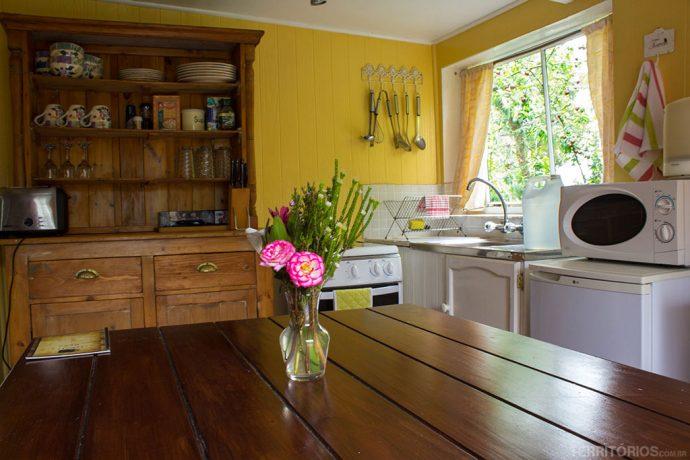 A cozinha da cabana