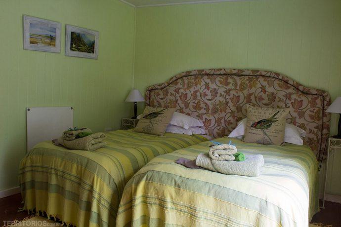 Nosso quarto na cabana da guest farm