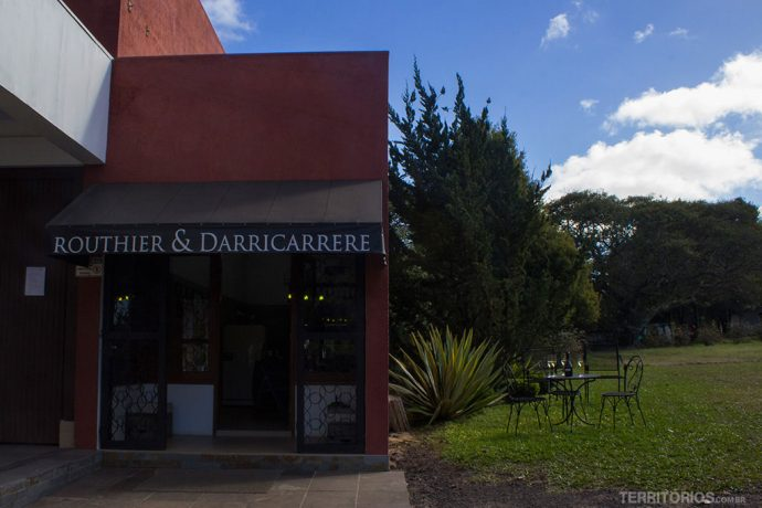 Loja dentro da vinícola