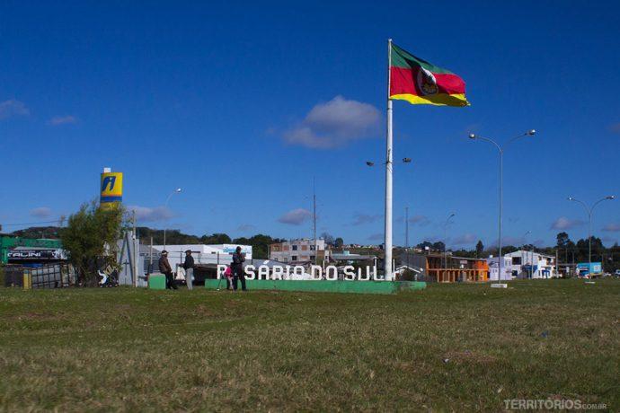 A chegada em Rosário do Sul