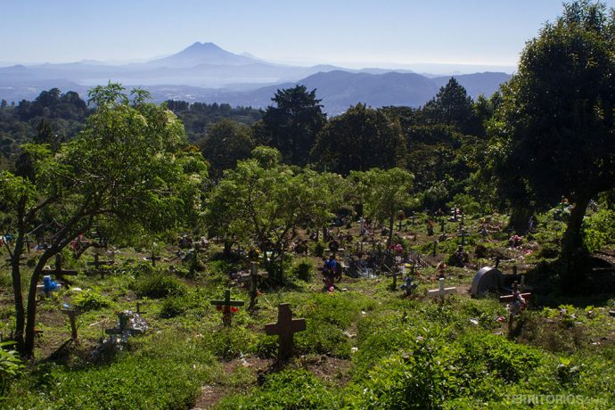 Vista do cemitério para tirar fotos de El Salvador