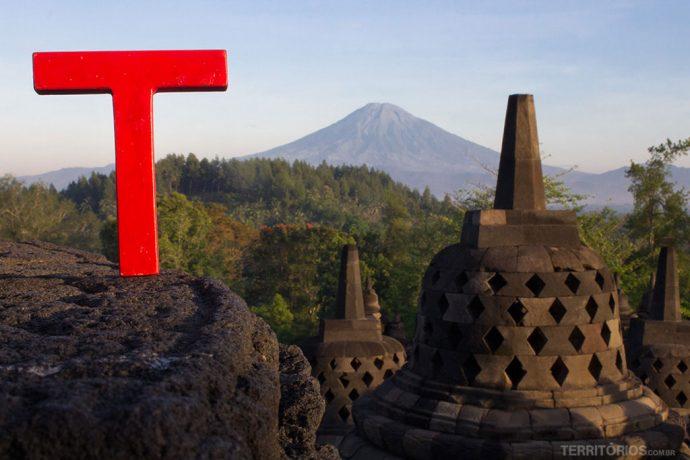 Templo Borobodur, em Magelang. Ilha de Java