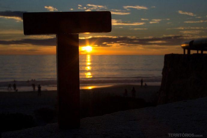 Pôr do sol no Oceano Índico, em Perth