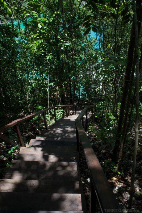 Escadaria até o mirante de Pianemo tem 340 degraus