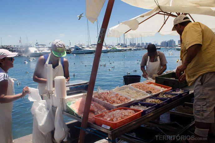 Mercado de peixes em Punta del Este