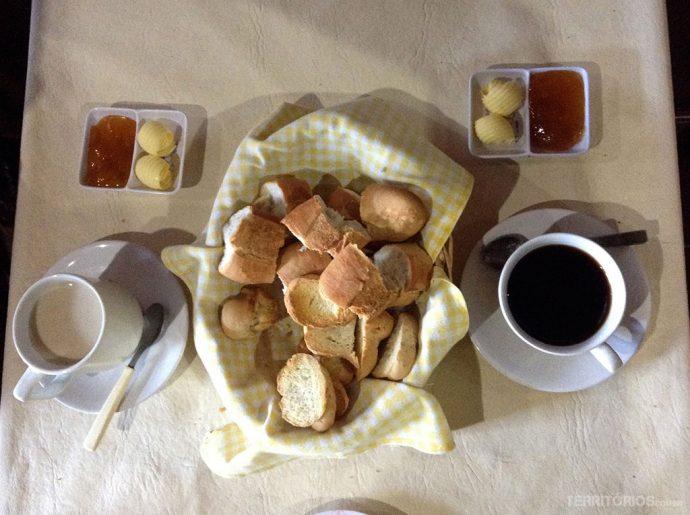 Café da manhã simples