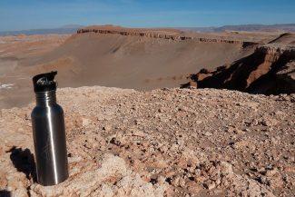 Garrafa é cortesia do Alto Atacama