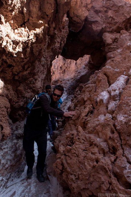 Caminhos estreitos na Quebrada de Kari