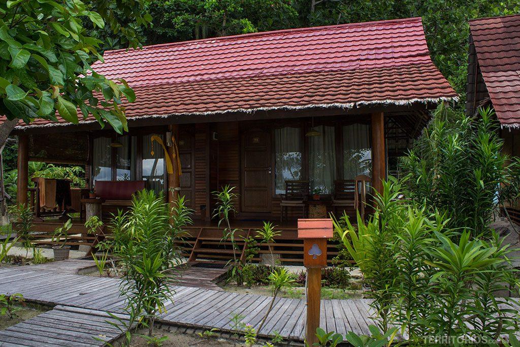 A minha cabana ao lado do restaurante