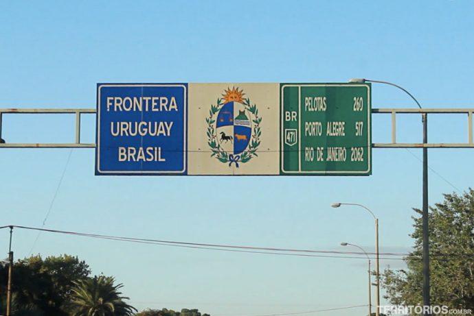 Fronteira extremo sul com Uruguai