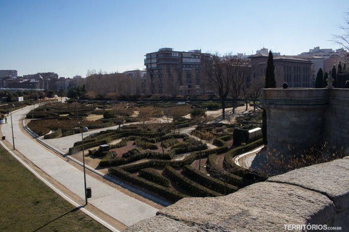 Vista para zona residencial de Madri