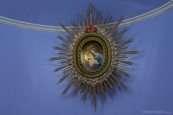 Detalhe na capela da Congregação das Irmãs do Horto
