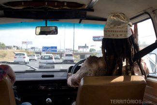 Motorista do nosso translado no aeroporto
