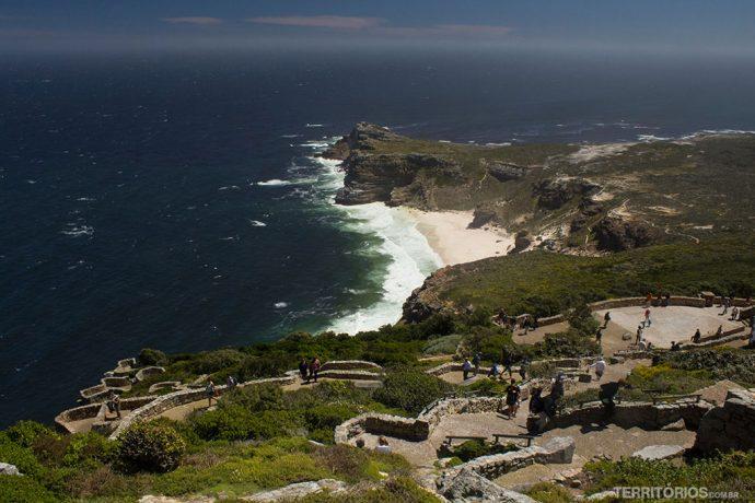 A estrutura do parque no Cabo da Boa Esperança