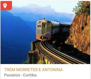 Pacote de viagem trem Curitiba Morretes