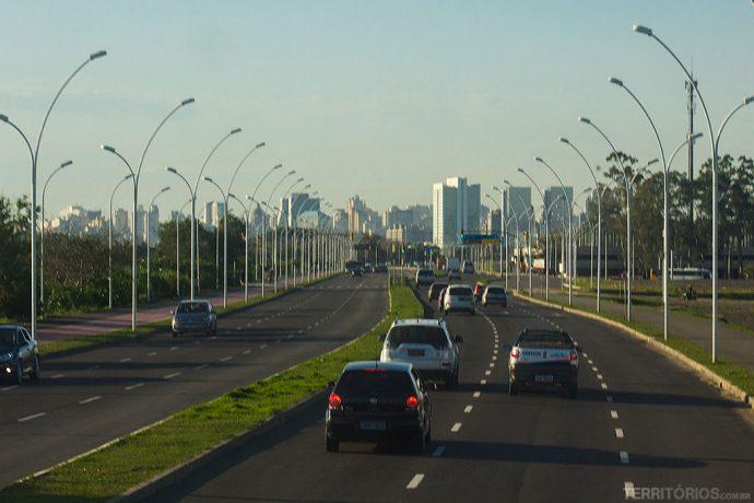 Avenida em Porto Alegre