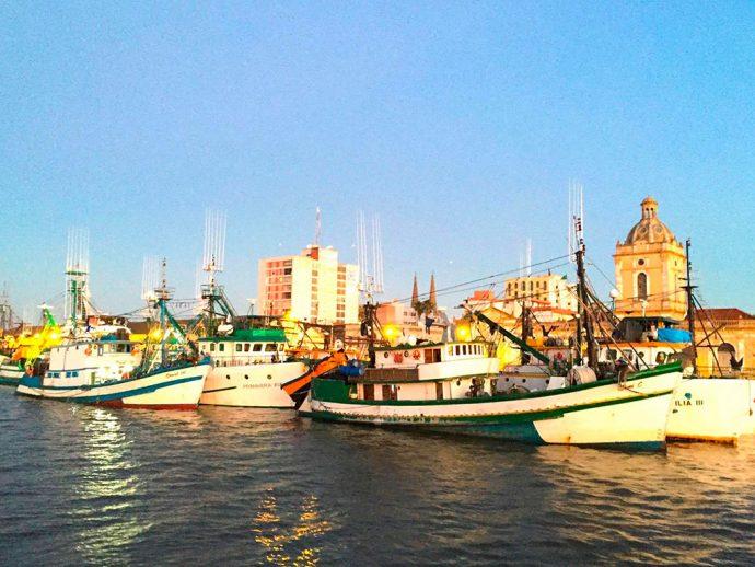 Porto de Rio Grande em dia ensolarado (foto: Paula)