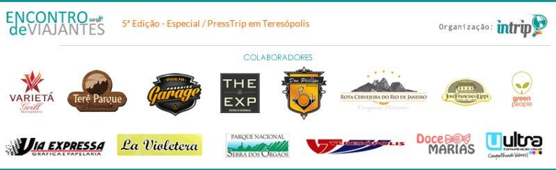 Logos parceiros Encontro dos Viajantes
