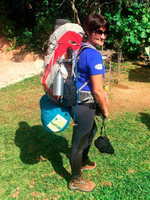 Eu carregando todo o equipamento necessário para a Expedição Deuter Pro 2017 (Foto Karla Gordilho)