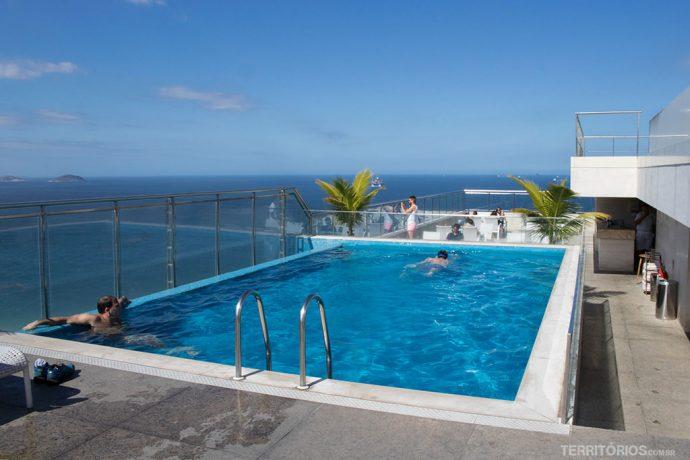 Piscina no terraço do Hilton Hotel Copacabana
