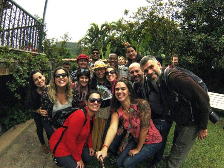 Nosso grupo animado no final do passeio (foto: Carol Moreno)