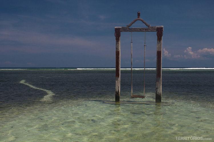 Balanço em Gili Trawangan, Lombok - Indonésia