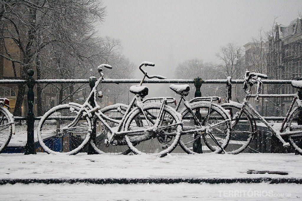 Nevasca em Amsterdam