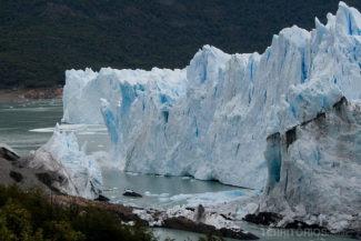 Fotos da Patagônia: gelo desprendendo em Perito Moreno