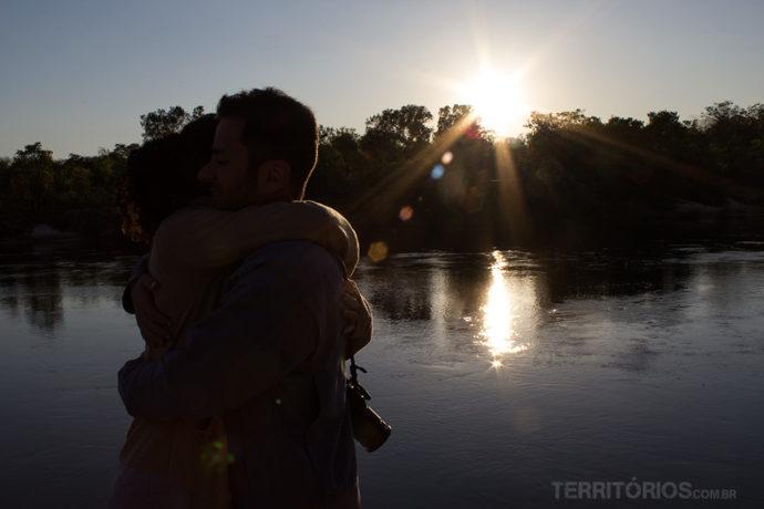 Nascer do sol no Rio Novo, Jalapão - Brasil
