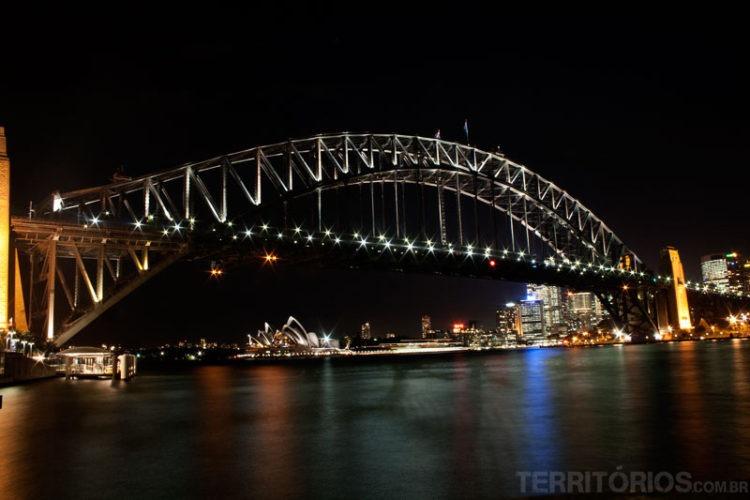 Dois cartões postais na mesma imagem. Milspoint, Sydney, New South Wales - Austrália
