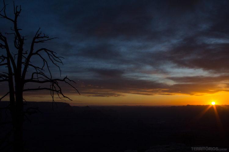 sol no Grand Canyon