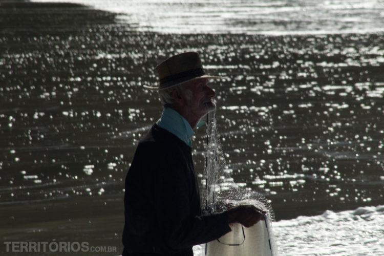 Pescador em Santa Catarina