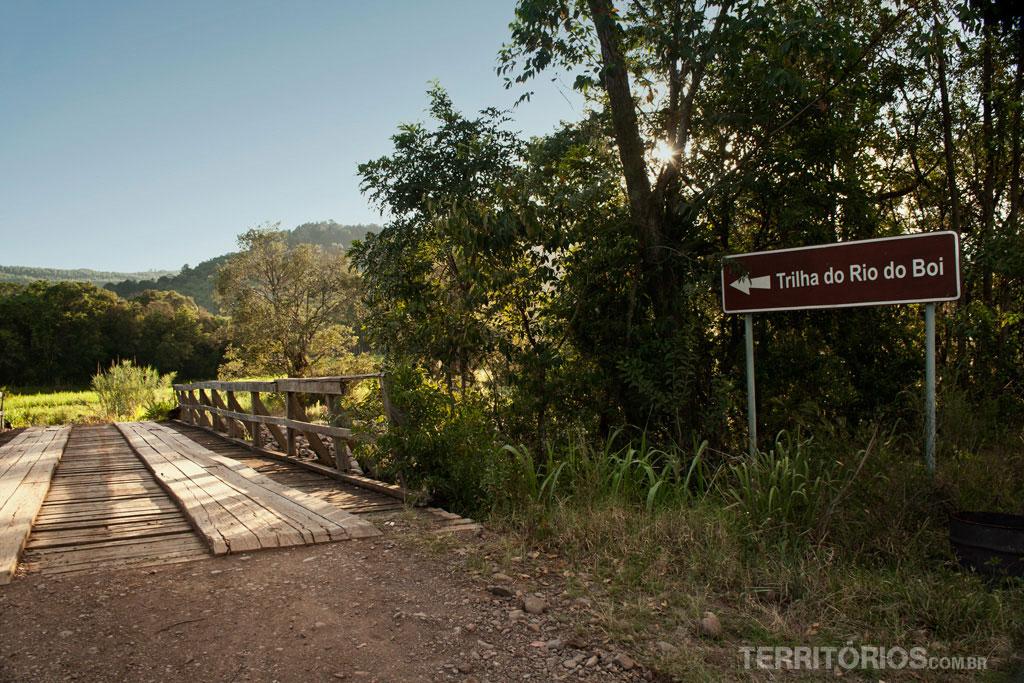 trilha do rio do boi