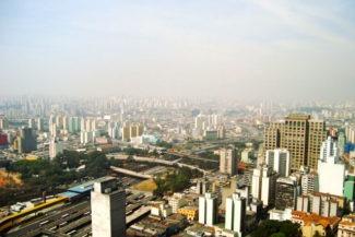 Vista da cidade do alto do Prédio Banespa, São Paulo - Brasil