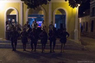 Show de dança no centro histórico