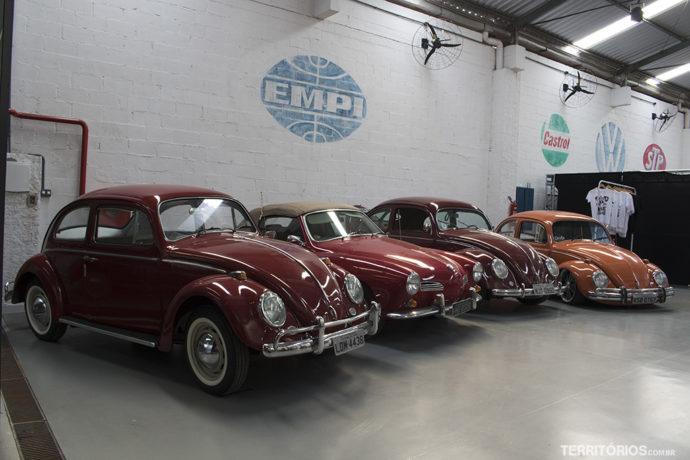Oficina de carros antigos no Paradise Garagem