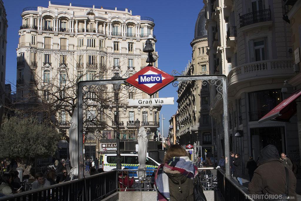Estação Gran Via em Madri
