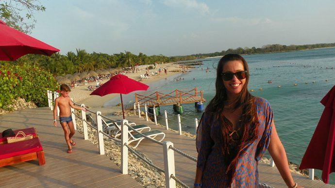 Praia particular do hotel em Baru