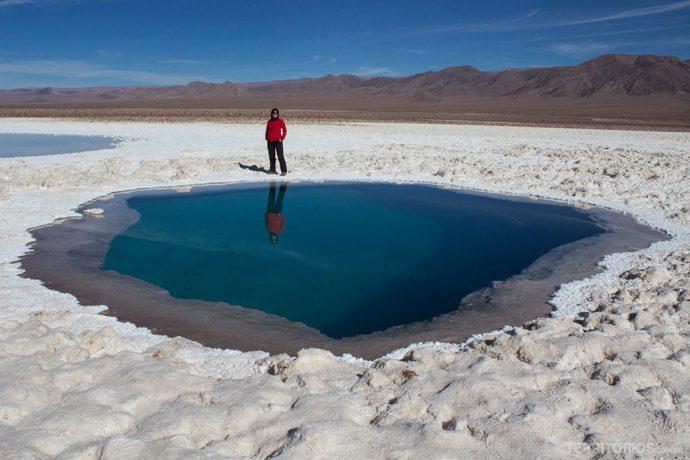 Lagunas Escondidas tem os cenários mais inusitados do Atacama