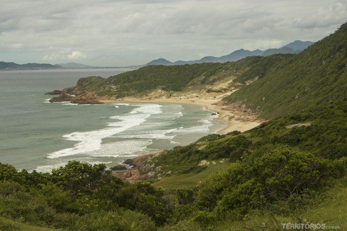 Vista para a Prainha, trecho fica inacessível no auge da maré alta