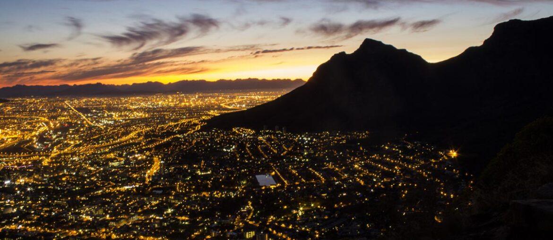 Cape Town vista do topo da Lion's Head
