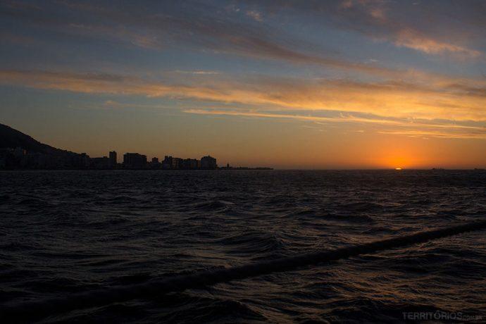 Pôr do sol embarcada em Cape Town